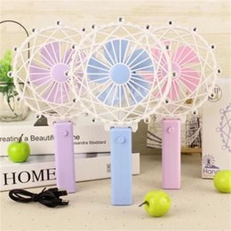 Wholesale Hold Fan Mini Summer USB Charge Fold Creative Small Plastic Mix Colour Ferris Wheel Shape Children Kid Toy qs V