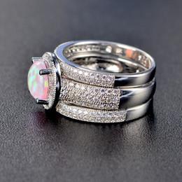042f31dfc073 Anillo de plata esterlina 925 para mujer colorido anillo de la joyería del  banquete de boda del ópalo de fuego rápido envío gratis