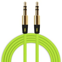 1.5 speaker UK - Braided Audio Auxiliary Cable 1m 3.5mm Wave AUX Extension Male to Male Stereo Car Nylon Cord Jack For Samsung phone PC MP3 Headphone Speaker