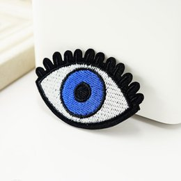 Wholesale eye embroidery patch resale online - Eye Embroidery Patches Sew Iron On Applique Patch Badge Hippie DIY Apparel Badges For Clothes Jeans Jacket Bag Hat Accessories