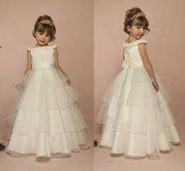 $enCountryForm.capitalKeyWord Australia - Flower Girls Dress Kids Pageant Party Wedding Ball Gown Prom Princess Dresses White
