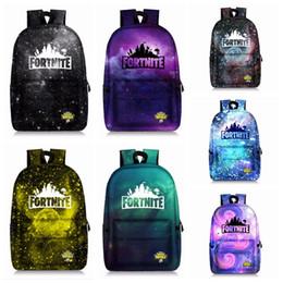 Kids christmas booKs online shopping - 7styles Fortnite starry sky printed backpack kids Unisex Student School Book Bag Shoulder bag outdoor Travel Bag FFA876