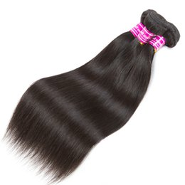 $enCountryForm.capitalKeyWord UK - Natural Color Remy Human Hair Weaves 3 4 Bundles Straight Black Double Wefts Hair Extension Non Processed