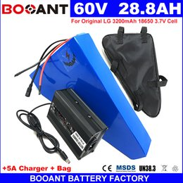 Motor Bicycles Australia - BOOANT triangle E-bike Lithium Battery packs 60V 28AH Electric Bicycle Battery for Bafang 1500W Motor +5A Charger
