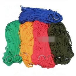 5 цветов творческий нейлон Меши гамак легкий портативный один гамаки прочная качели для открытый кемпинг гамаки CCA9844 100 шт.