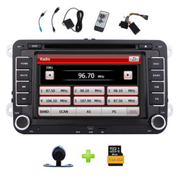 "cams for phones NZ - 7"" Double Din Car Radio Stereo car DVD Player for VW GPS Navi SWC Bluetooth Parking Sensor USB SD Cam-In 8GB Map+Reverse Camera"