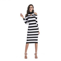 9954cbbc680f Long Time-limited Night Out   Club Off-the-shoulder Knit Dress Slim Bag Hip  Skirt Europe And America 2018 Autumn Winter New Red Green Black