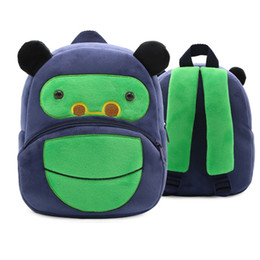 Chinese  Cute Zoo Plush School Bags Cartoon Animal Orangutan Kids Satchel Baby Boys Girls Kindergarten Backpack Gifts Toy Small Schoolbag manufacturers