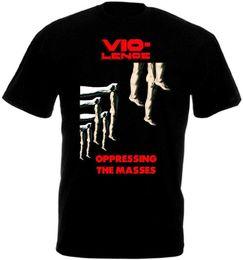 Vente en gros VIO-LENCE T-shirt noir zaki kaki toutes tailles S-3XL Harajuku Funny Men Tee shirts