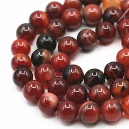 $enCountryForm.capitalKeyWord Canada - Round Onyx Loose Beads For Jewelry Making agates Natural Stone 6 8 10 12mm DIY Necklace Bracelet Carnelian Finding 15inch A349