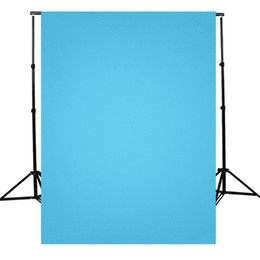 $enCountryForm.capitalKeyWord NZ - 5X7FT solid color Blue Photography Background For Studio Photo Props Photographic Backdrops cloth 1.5x2.1m light weight