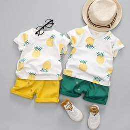 $enCountryForm.capitalKeyWord NZ - Baby Boys Girls Summer Clothes Fashion Cotton Set Printed Fruit Sports Suit For A Boy T-Shirt + Shorts Children'S Clothing