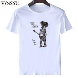 new modal man shirt 2019 - Wholesale-2016 New The Cure T Shirts Men Casual Men Robert Smith T-shirts Short Sleeve Fashion shirts Man Rock Tops Tees