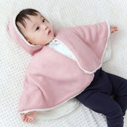 Discount angel baby clothing - Kids Baby Girl Windbreaker Coat Little Angel Wings Hooded Lace Cloak Coat Cute Styling Solid Color Autumn Winter Top Clo