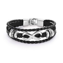 $enCountryForm.capitalKeyWord NZ - Unisex Punk Style Bracelet Knitted Cool Fashion Jewelry Bangle Gothic Buckle Men Women