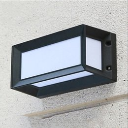 Surface wall online shopping - New W Led outdoor Wall Lamp LED Aluminum Wall Surface Mounted Outdoor Cube Lamp Up and Down Wall Lights