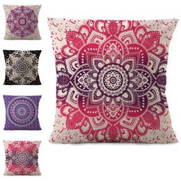 70641933e64 Retro Floral Designs Pillow case Bohemian bed flower Pillowcover Cotton  Linen Ethnic car Pillow Cover Bedroom sofa Throw Cushion dropship