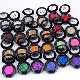 rainbow eyeshadow NZ - Miss Rose Brand Glitters Single Eyeshadow Diamond Rainbow Make Up Cosmetic Pressed Glitter Eye Shadow Palette 24 Colors