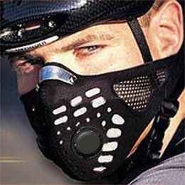cycling pollution mask NZ - 1pc Black High quality Anti-pollution Cycling Face Mask Mouth-muffle With Activated Charcoal Filter Anti-dust Half Face Mask