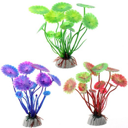 Artificial Aquarium Decor NZ - High Quality New Artificial Decoration Plants Simulation Aquarium Ornament Landscape Grass Flower Fish Tank Decor Aquatic