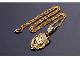 Necklaces Pendants Australia - Fashion Hip Hop Men Women Cartoon Lion Pendant Necklace Jewelry Silver Gold Zircon Plated Necklace High Quality