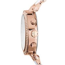Горячие женские часы Parker Rose Gold-Tone 5774 хронограф White Rose Gold двухцветные женские часы