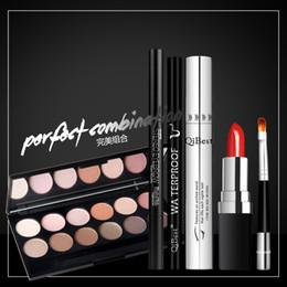 naked lipstick lips 2019 - Makeup Set Eyeshadow Pallete Matte Naked + Eyeliner Eye Mascara + Eyebrow Pencil Lipstick Lip Brush Pen Waterproof Make
