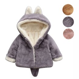 Autumn girls pink jAcket online shopping - TELOTUNY FASHION Baby Infant Girls Boys Autumn Winter Hooded Coat Cloak Jacket Thick Warm Clothes
