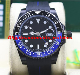 $enCountryForm.capitalKeyWord NZ - 3 Style Top Quality Luxury II 116710 40mm Ceramic Bezel BATMAN PVD Coating Rubber Bracelet Automatic Mechanical Men Watches New Arrival