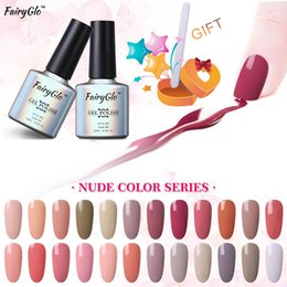 $enCountryForm.capitalKeyWord Canada - FairyGlo 10ml Nude Color Gel Nail Polish with Buffer File UV Nail Gel Polish Set Soak Off Kit Art Design Set