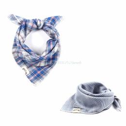 Classic Plaid Baby Bibs Multifunction Infant Bandana Bibs Sling Neckerchief #T026#