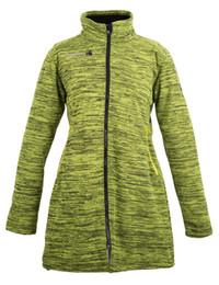 Womens Grey Jackets Canada - Deproc Elkford Long Jacket Lady Coat Fleece Womens Strickfleece Mantel Elkford Longjacket Lady