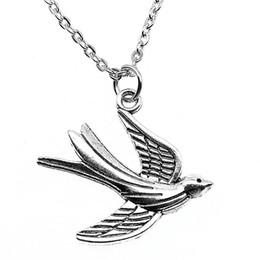 Necklaces Pendants Australia - WYSIWYG 5 Pieces Metal Chain Necklaces Pendants Pendant Necklace Women Swallow Bird 30x28mm N2-B13650