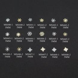$enCountryForm.capitalKeyWord Canada - 100pcs bag Silver Gold New Snowflake Winter-Flake non-adhesive Soft Metal Sticker Nail Art Decoration Acrylic Deco M-28