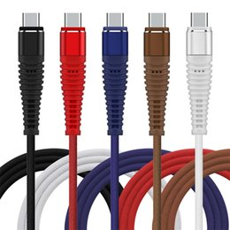 Cloth braided online shopping - Stronger Braided Type c Micro Usb Cable m m m Alloy Metal Fabric Cloth usb data charging wire for samsung s6 s7 s8 s9 htc android phone