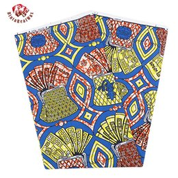 Waxed Cotton Fabric Para La Venta Baratos-2017 venta caliente garantizada super cera para la tela de moda africana cera 100% algodón 6 yardas / lot Veritable super cera Hollandais BRW175