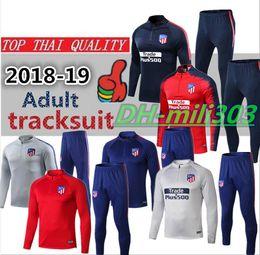 4cd88ee30 Novo 2018 2019 Atletico jaqueta de treino terno chandal 17 18 19 GRIEZMANN  F.TORRES KOKE SAUL Madrid jaqueta de futebol sportswear set treino