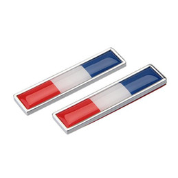 $enCountryForm.capitalKeyWord NZ - Car Styling Sides sticker France Flag New Pair Metal Label 3D Car Stickers Auto Metal Emblem fit for Peugeot KIA