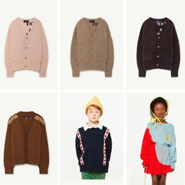 Wholesale Girls Clothing Sets Winter Tao Brand Kids Knitwear Baby Boys Clothes Geometric Bull Sweater Tops Swan Skirt Knitted Jackets