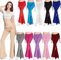 $enCountryForm.capitalKeyWord NZ - Wide Leg Flare Pants Loose Stretch High Waist Long Pants Trousers Yoga Soft Pants Fitness Sports Bloomers 8 Colors OOA4057