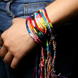 Lucky packs online shopping - Popular Nepalese National Wind Hand Made Rainbow Bracelet Lucky Friendship Hand Rope Wristbands Pack Support FBA Drop Shipping H681F