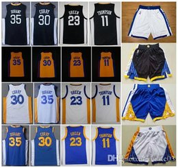 8a9eecd0a 2018 Golden State Warriors Jersrey Short 30 Stephen Curry 35 Kevin Durant 11  Klay Thompson 23 Draymond Green 9 Andre Iguodala Jerseys Shorts