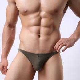 Men Bikini Brief Cotton Australia - Cotton Brand mens bikini underwear classic basics sexy men briefs U Convex calzoncillos hombre cueca gay men Underpants