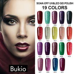 Wholesale Glitter Products Australia - Bukio Decorations for Nails Art Gel Nail Polish Glitter Neon Uv Lamp Gel Varnish Semi Permanent Nail Hot Selling Products