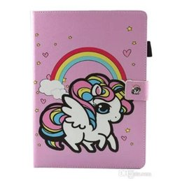 Chinese  Cute Unicorn Flower Print Kid PU Leather Flip Magnetic for ipad Mini 123 Mini 4 New ipad 2017 2 3 4 Air 2 Samsung Tablet T280 T380 T585 manufacturers