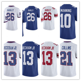 e30bae44c Mens New York Giants Jerseys 26 Saquon Barkley 13 Odell Beckham Jr 21  Landon Collins 10 Eli Manning Sterling Shepard 88 Engram jersey