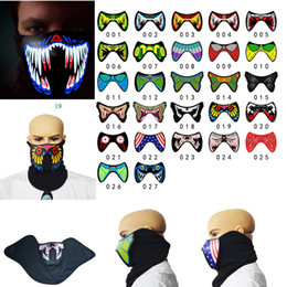 Clothes free shipping dhl online shopping - DHL Halloween LED Masks Clothing Big Terror Masks Cold Light Helmet Fire Festival Party Glowing Dance Steady On Driver