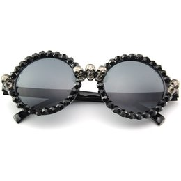 690f34dc05 MINCL Rhinestone Sunglasses Women Skull square round Vintage Black Sun  Glasses for Woman Party Hippie Hip Hop Female 2018 NX