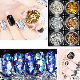 Nails Art & Tools Laser Transparency Glittering Thin Nail Paillette Mix Size Multi Shape Holographic Nail Art Sequins Heart Round Star Decoration