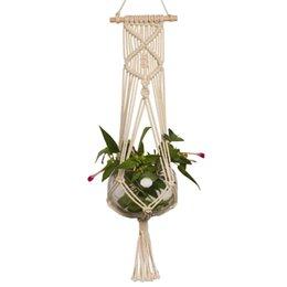 1pc corda di cotone pianta gancio corda Macrame Pot Holder cestino intrecciato corde decorazione del giardino forniture
